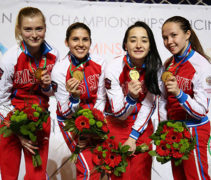 ПЕ-2017 среди молодежи. «Золото» в женской команде рапиристок
