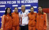 Рапиристки заняли третью ступень пьедистала на Кубке России.