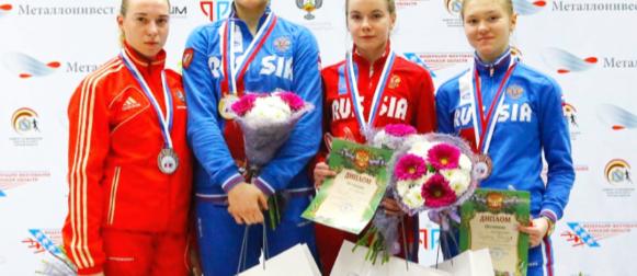 Саблистки завоевали золотую, серебряную и бронзовую награды первенства России!