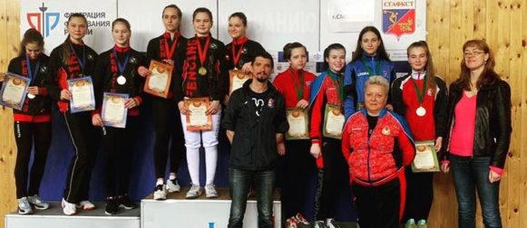 Наши рапиристки стали бронзовыми призерами на первенстве Центрального федерального округа в г. Смоленске!